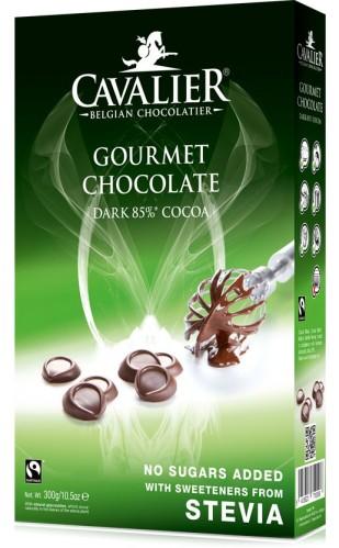 Cavalier juodasis šokoladas konditerijai 300 g.