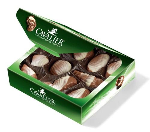 """Cavalier pieniško šokolado saldainiai """"Jūros kriauklės"""" 125 g."""
